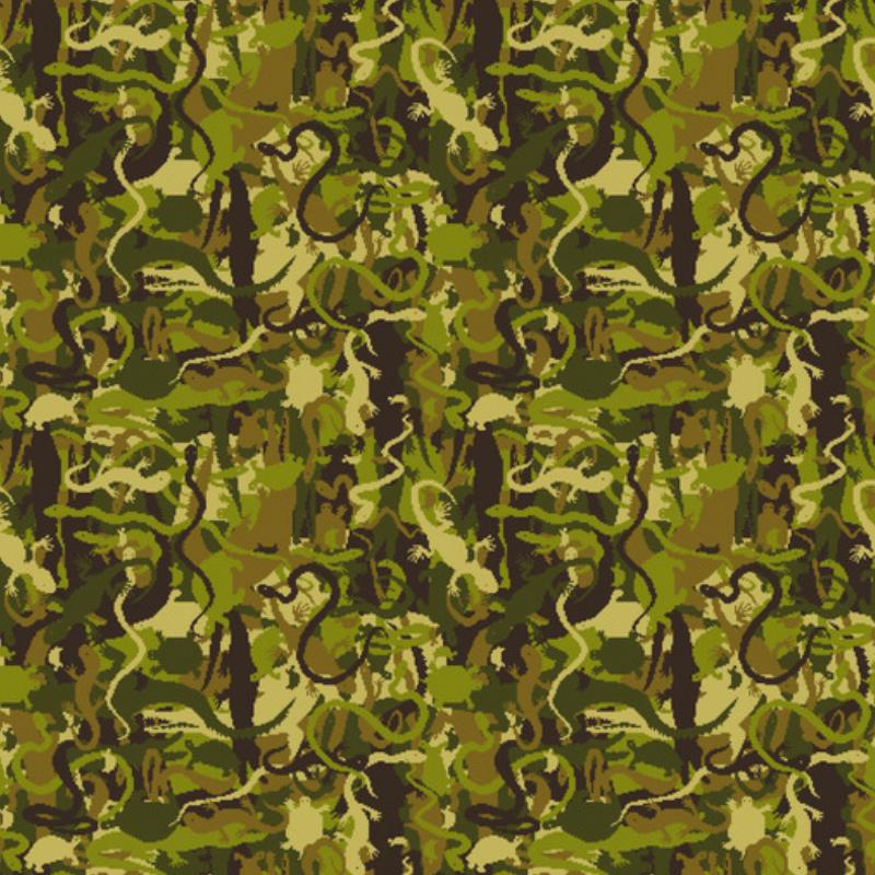 ドット絵爬虫類迷彩