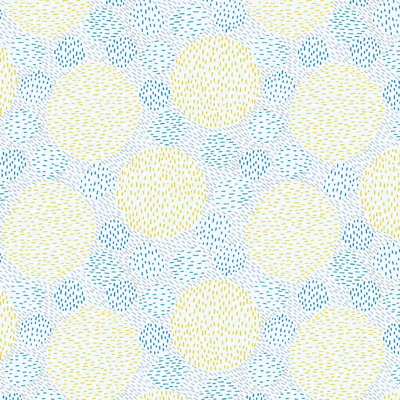 線でまる 青と黄色